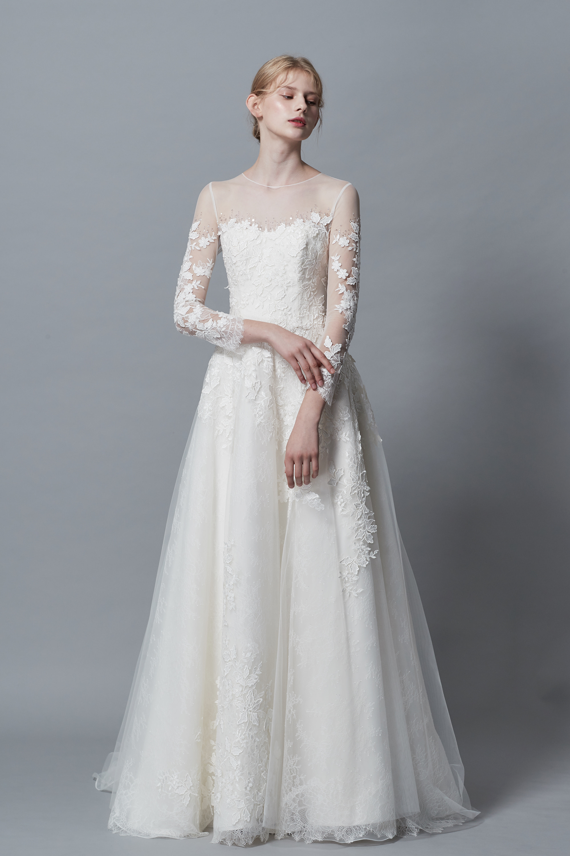 Ciel Blanc,A line wedding dress